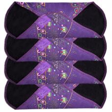 Absorbante din bumbac, lavabile, reutilizabile într-un nou design atrăgător de la Me Luna®. Setul conține 4 absorbante textile lavabile mărime medie. Material: 90% bumbac, 10% poliester. Bandajul textil conține o barieră subțire umedă ca protecție